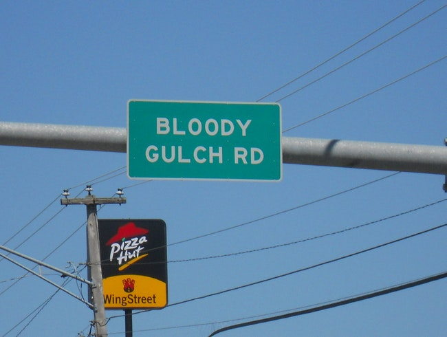 Visit scenic Bloody Gulch Road