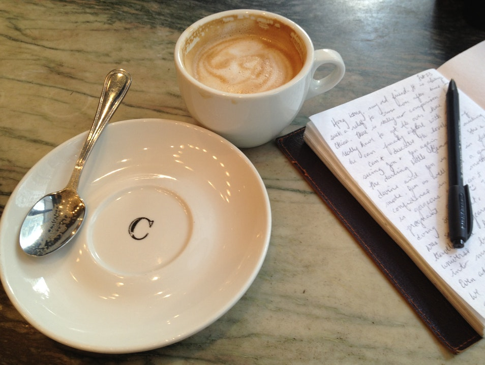 Latte and a note