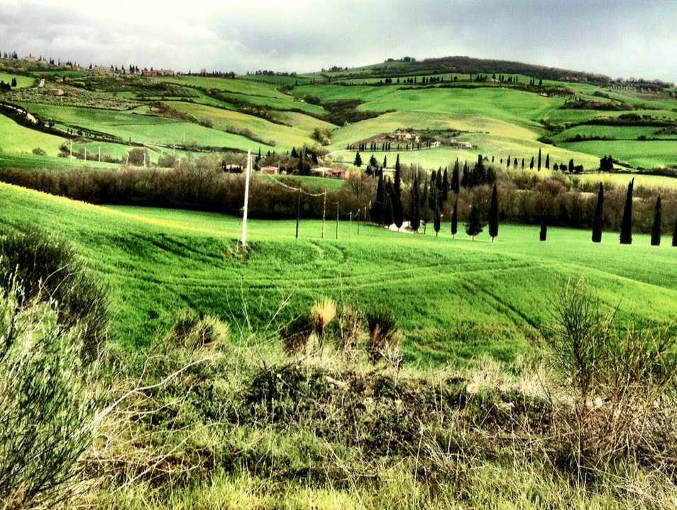 Travelling In Val D'Orcia Monticchiello  Italy