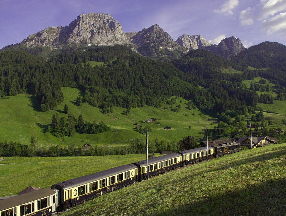 Glide Through Marvelous Mountains by Train Sachseln  Switzerland