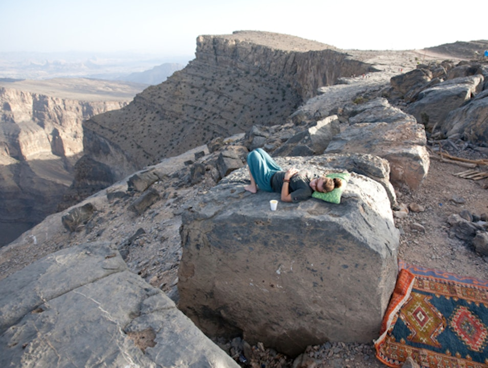 Cliffside on Jabal Shams Jabal Shams  Oman