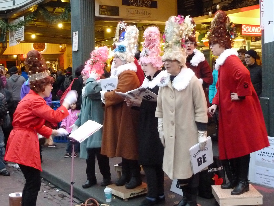 Give a Fig for Charity at a Caroling Contest Seattle Washington United States