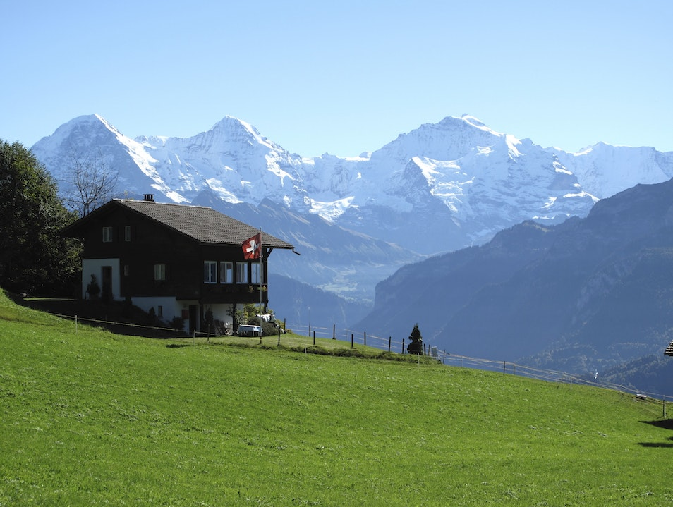 Overbooked flight allows for spectacular day Beatenberg  Switzerland