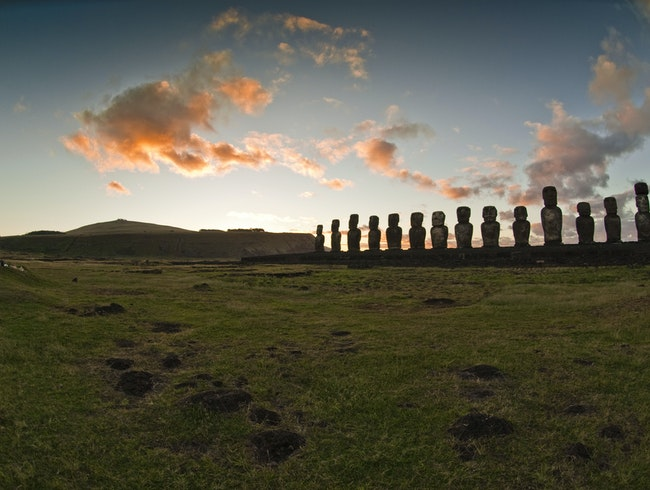 Ahu Tongariki at Sunrise