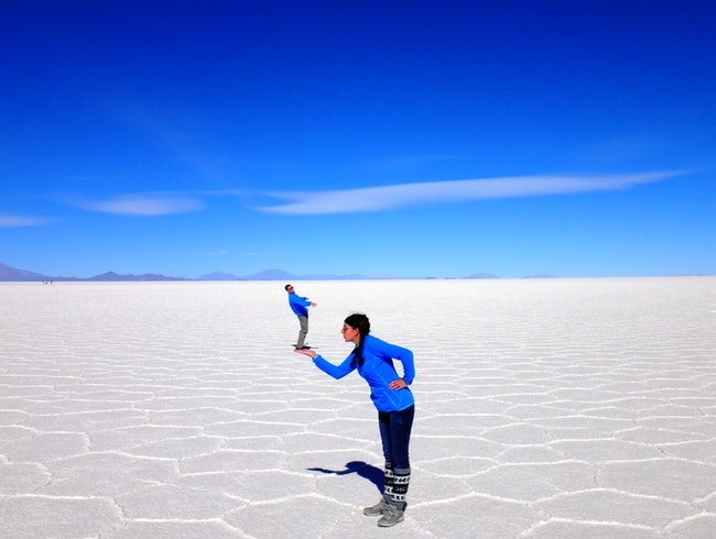 Blown away in the Bolivan Salt Flats