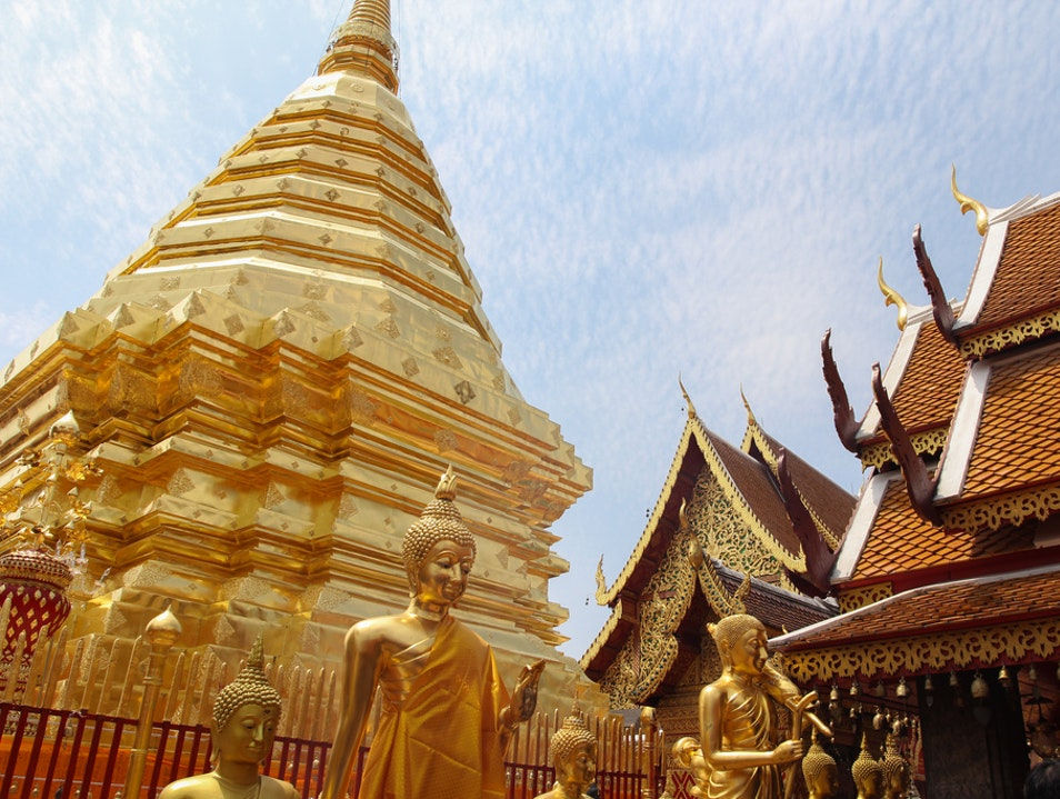 A Favorite Chiang Mai Temple Mueang Chiang Mai  Thailand