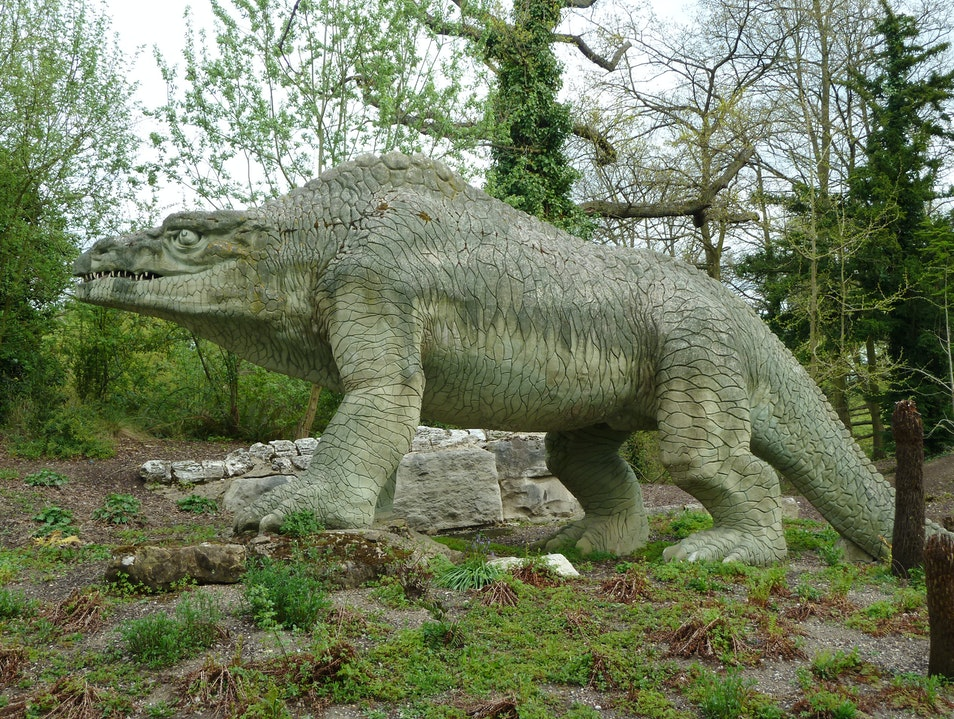 Walk with the Dinos in Crystal Palace Park London  United Kingdom