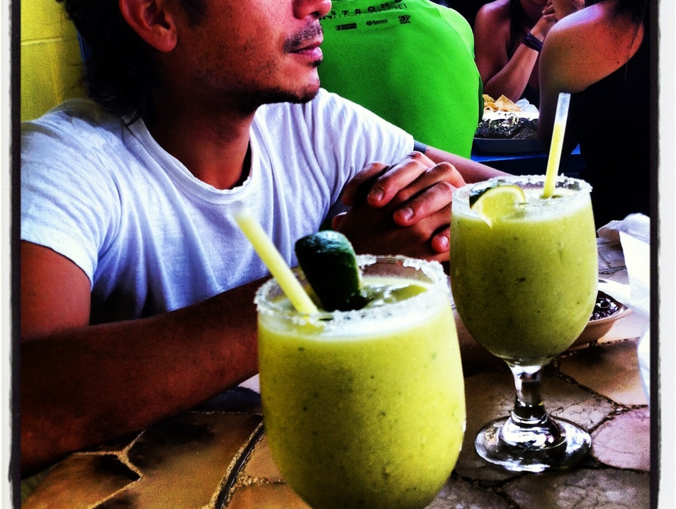 Avocado Margaritas at The Mother of All Mex  Austin Texas United States