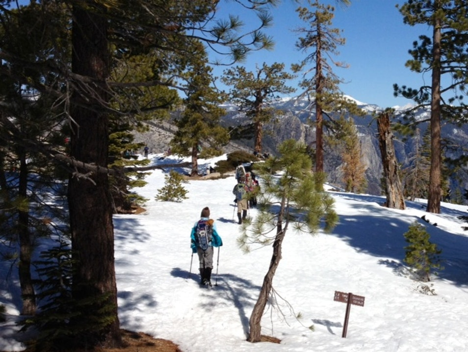 Badger Pass to Dewey Point Snowshoe Hike