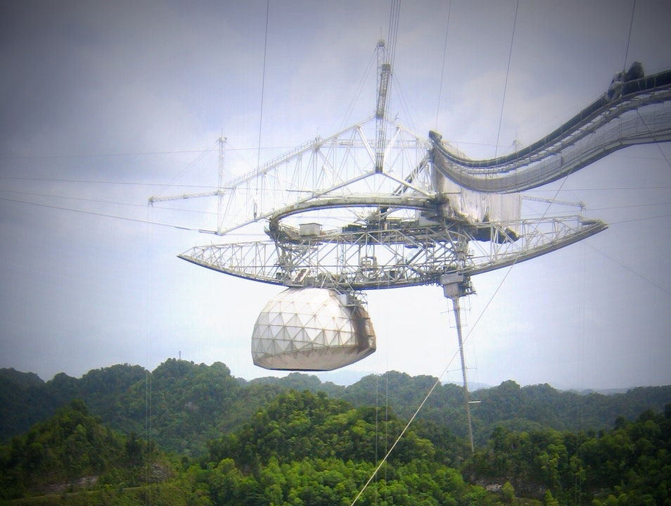Searching for Intelligent Life and Dangerous Asteroids Arecibo  Puerto Rico