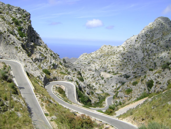 Drive the winding road of Sa Calobra