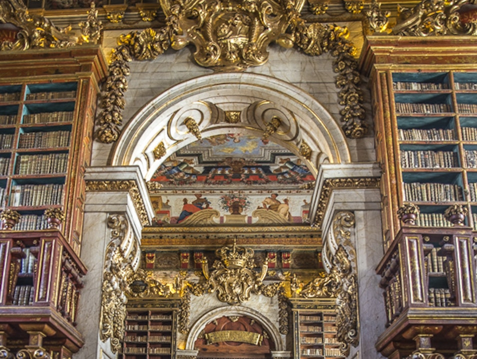 Joanine Library in Coimbra University Coimbra  Portugal