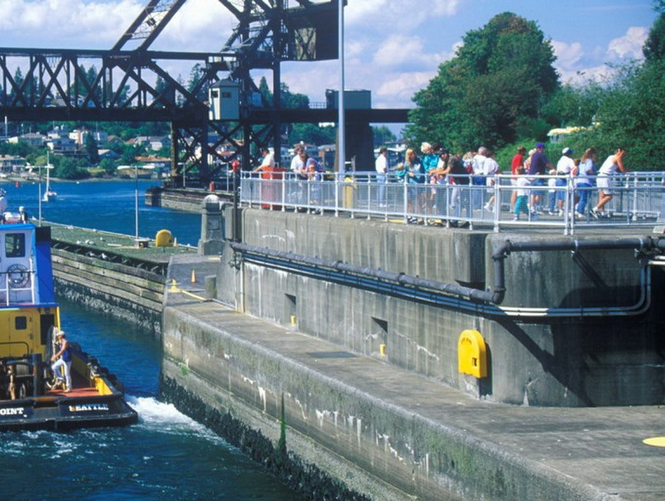 Hiram M. Chittenden Locks (Ballard Locks) Seattle Washington United States