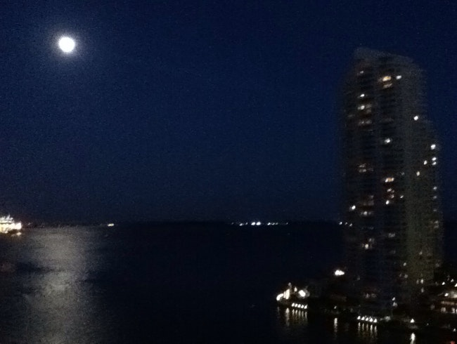 Full moon on Biscayne Bay