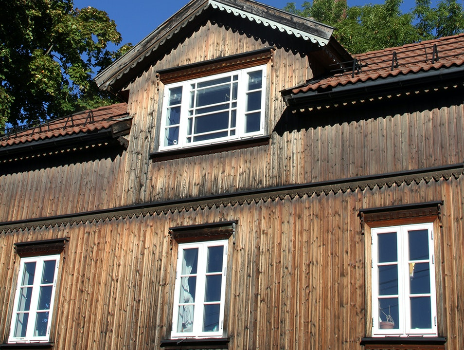 Old Wooden Houses in Oslo Oslo  Norway
