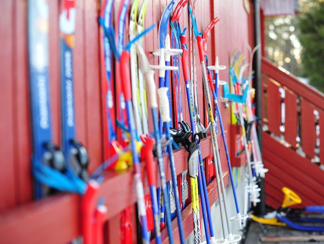 Gliding over the greens