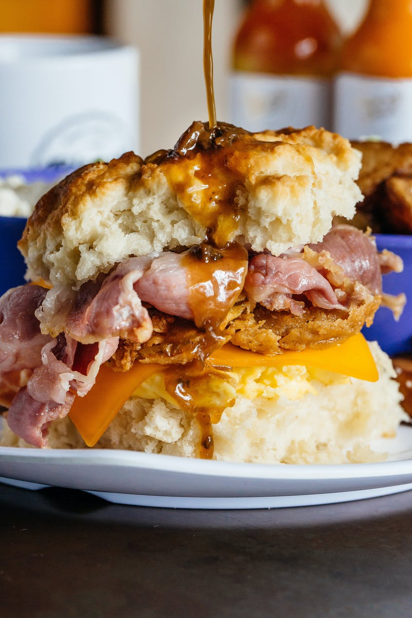 Can you handle the Country Ham Biscuit breakfast sandwich?