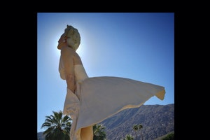 """Forever Marilyn"" Sculpture, Palm Springs, CA"