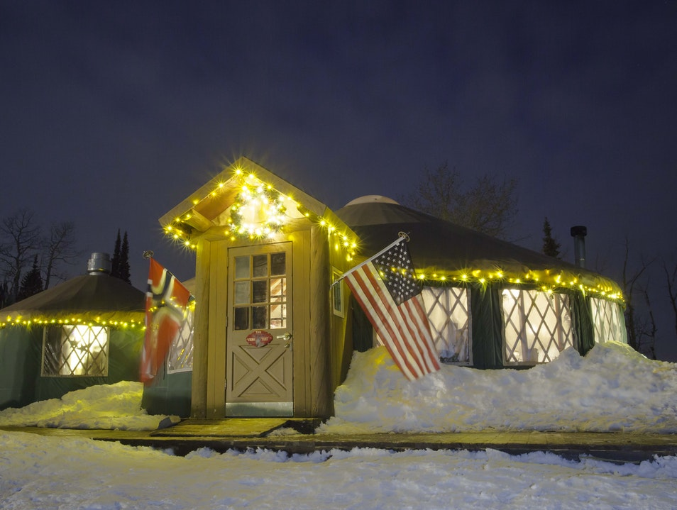 Sleigh and Dine at the Viking Yurt Park City Utah United States