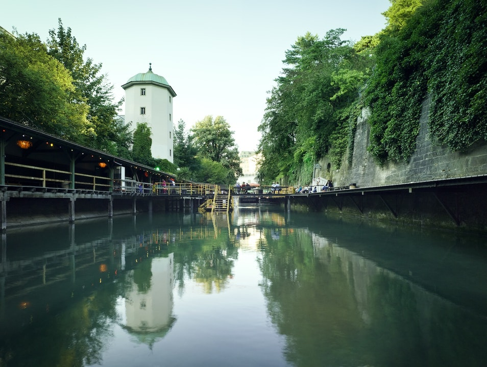 Swimming Along Zurich's Old City Wall