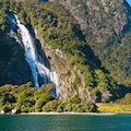 Bowen Falls Milford Sound  New Zealand