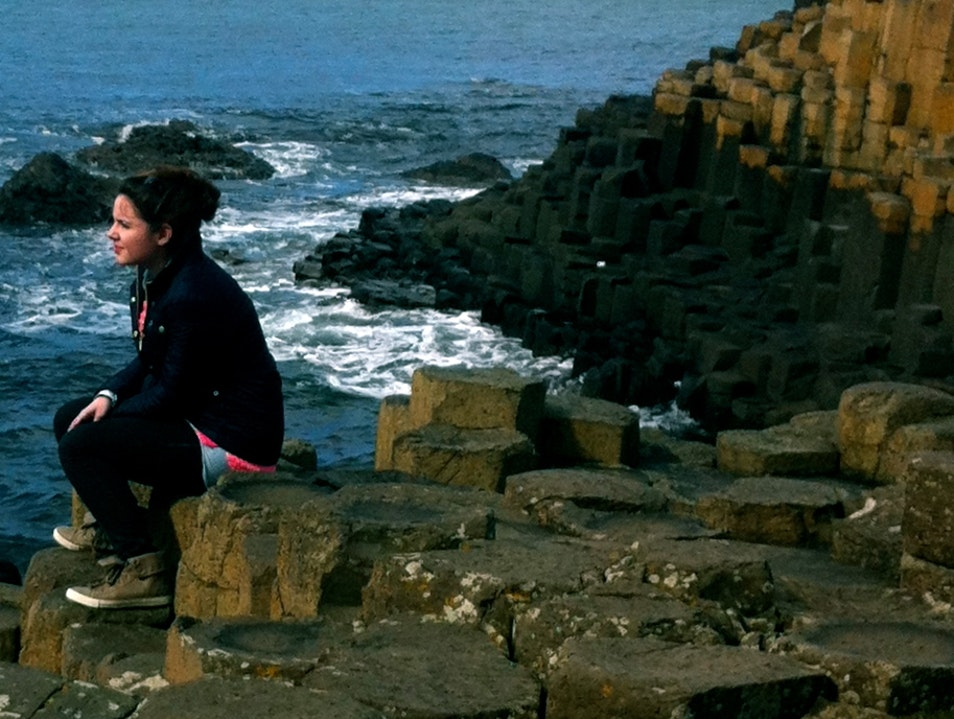 Taking in Giant's Causeway
