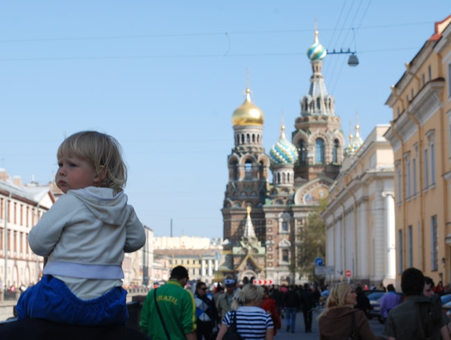 St.Petersburg during the celebration of Victory Day May 9