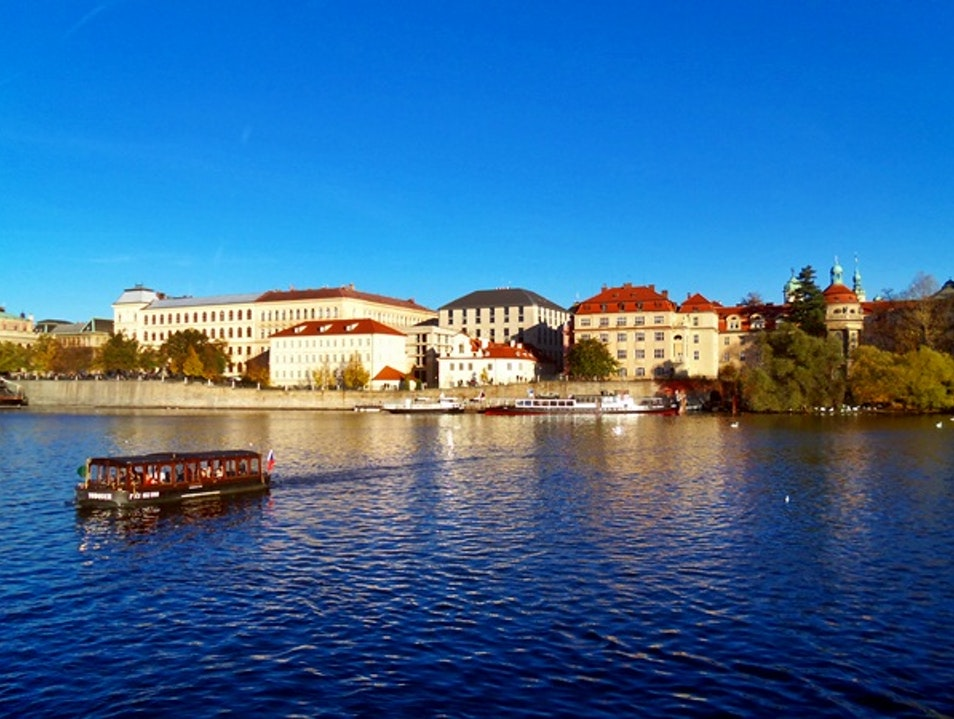 Cruise on Moldova River Prague  Czechia