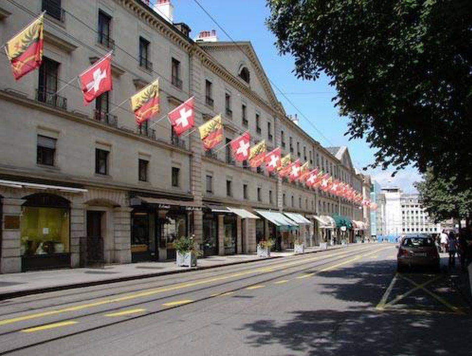 "the most ""chic"" street in Geneva Geneva  Switzerland"
