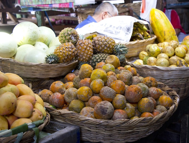 The Tropical Colors of Grenada's Central Market
