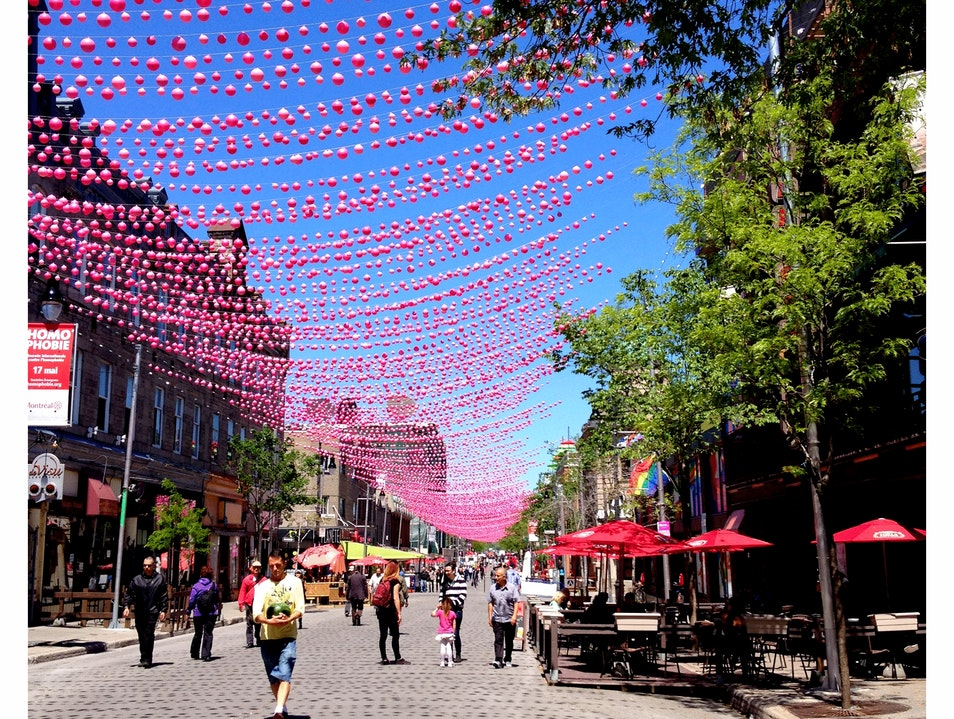 Frolicking in the Gay Village Montreal  Canada