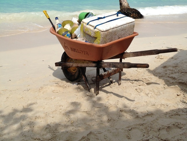 Relax on Playa Blanca with Fresh Tropical Drinks