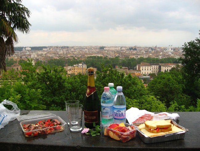 Picnic-Perfect Piazza in Rome