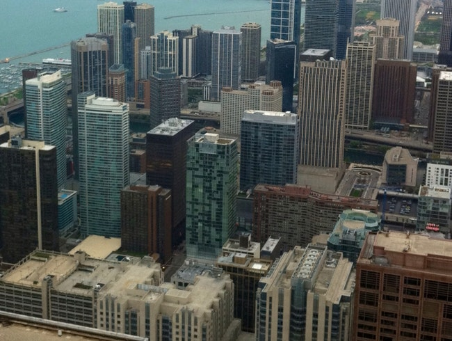 The View Of Chicago Downtown From The 95th Floor