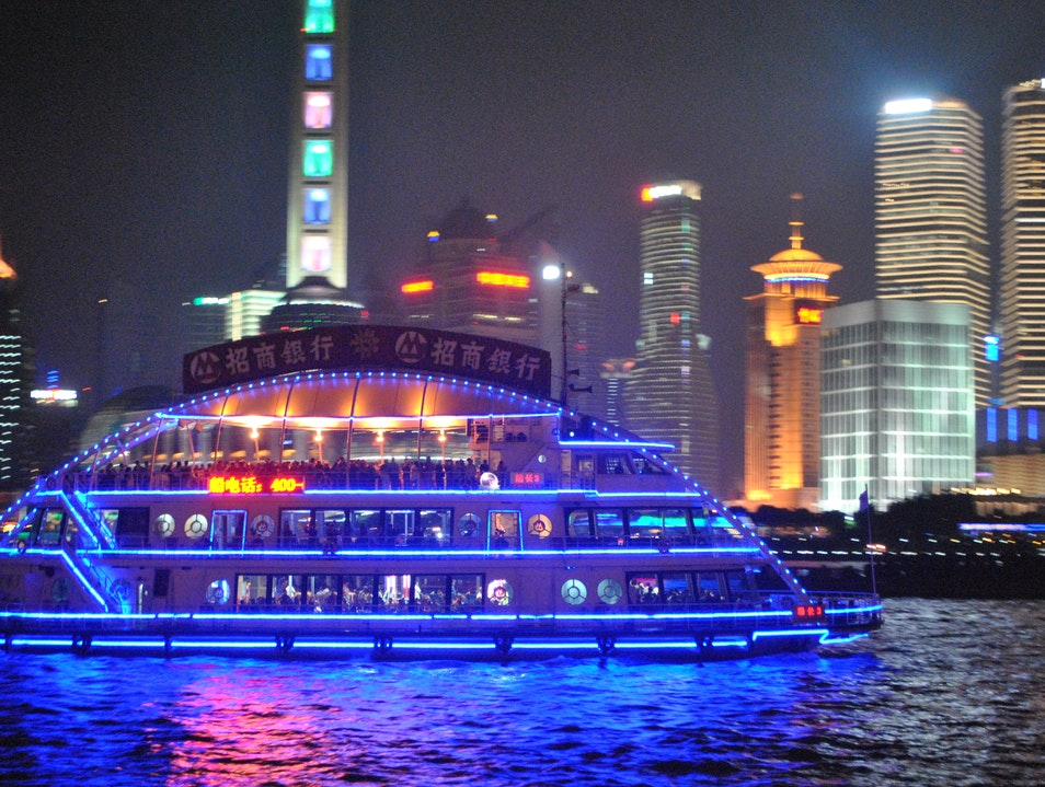 River Cruise along Huangpu River  Shanghai  China