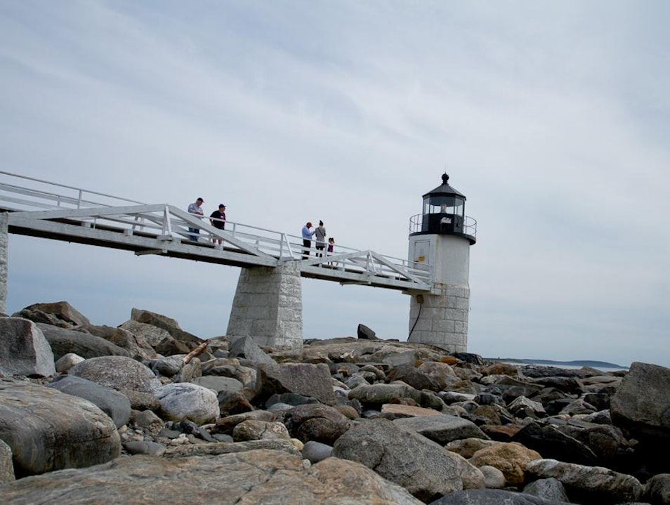 Hollywood Style Lighthouse  Saint George Maine United States