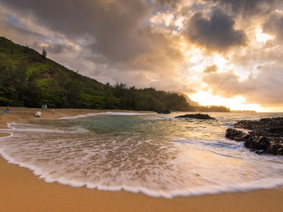 Lumahai Beach Kapaa Hawaii United States