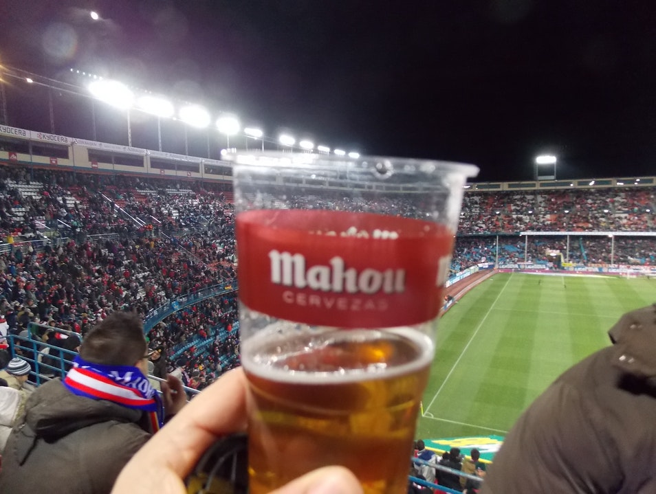 Fake beer @ a real stadium Madrid  Spain
