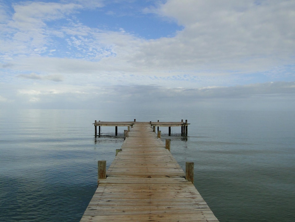 Pier into the Infinite Horizon Hopkins  Belize