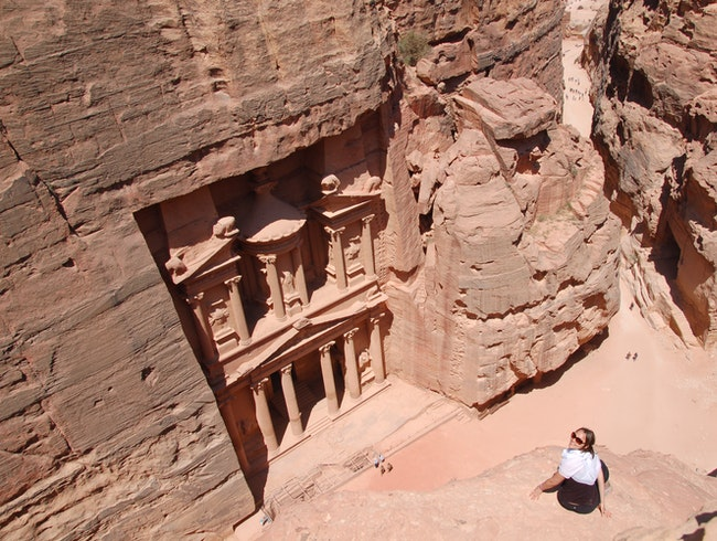 Adventurous? Try This View of Petra!