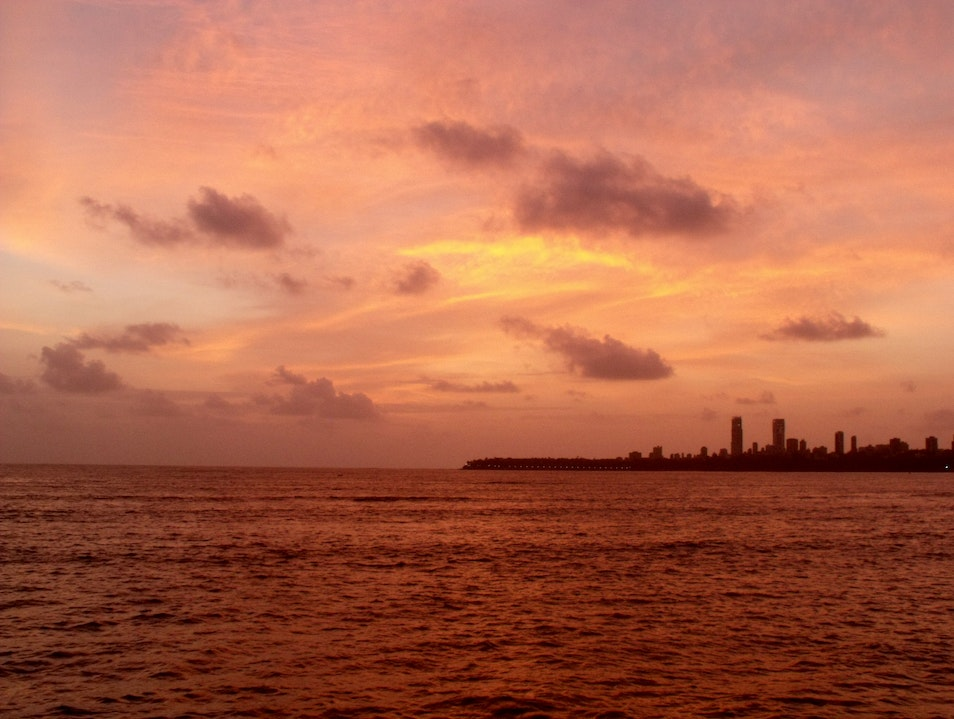 Naranji dusk over Arabian Sea Mumbai  India