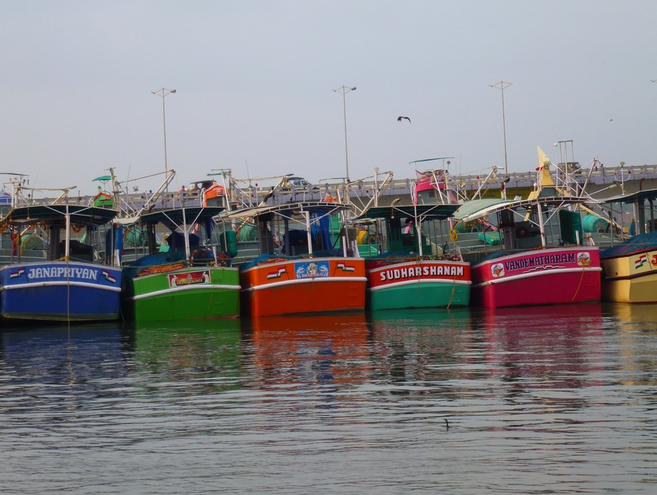 Fishing Vessels at Rest Kochi  India