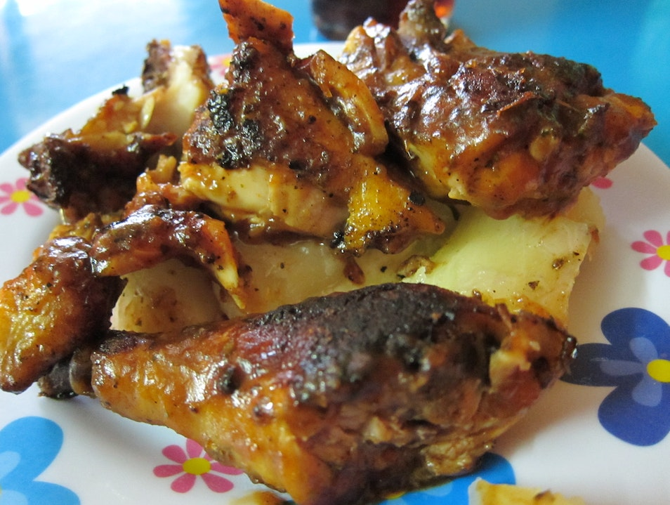 Grilled chicken with yuca