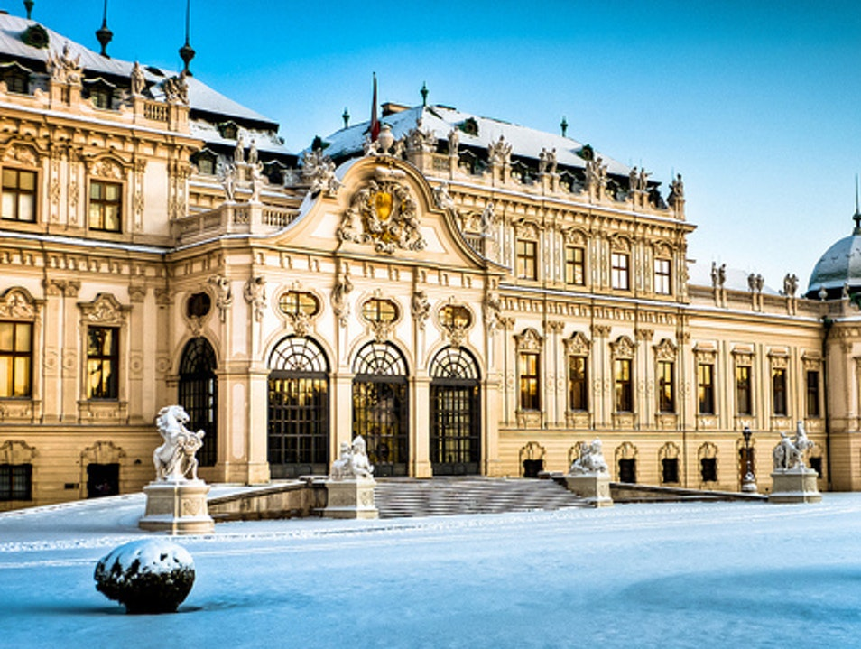 Palaces and Castles in Winter Vienna  Austria