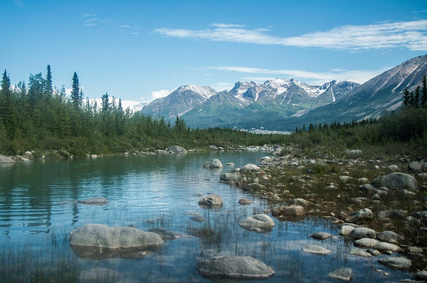 As the largest national park in the country, Wrangell–St. Elias has a number of record-breaking mountains, glaciers, and other landmarks.
