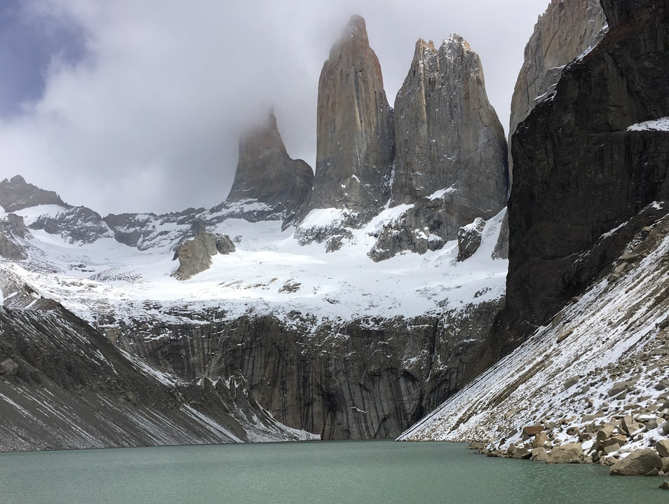 Base of Las Torres Torres del Paine  Chile
