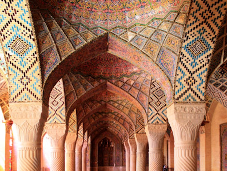 Basking in Quiet Beauty in a Small Mosque in Iran