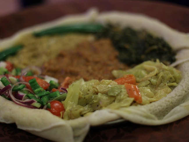 Excellent Ethiopian food on the cusp of Pigneto