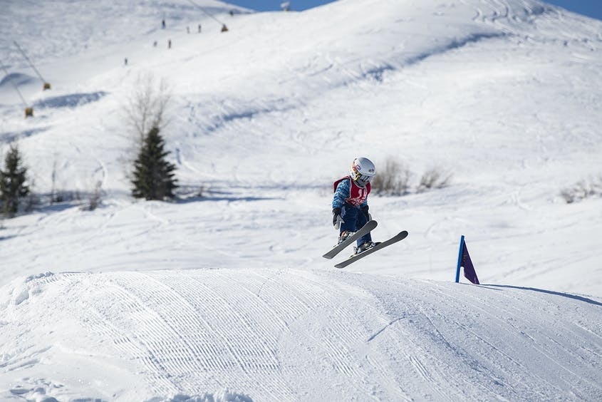 With gentle terrain and available lessons, Dollar Mountain is perfect for young children and novice skiers.