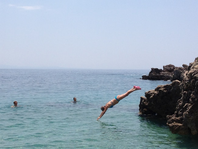 diving in the Ionian